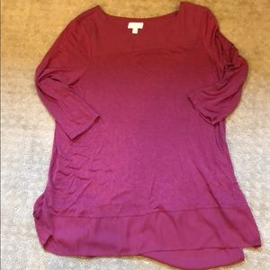 A:glow Maternity 3/4 sleeve top